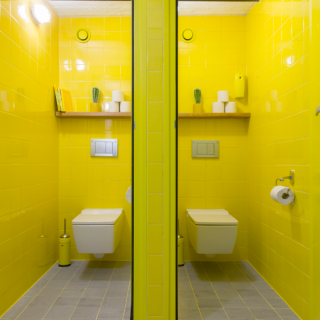 Rénovation des toilettes Townhouse after